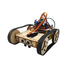 wood diy kit tank educational robot