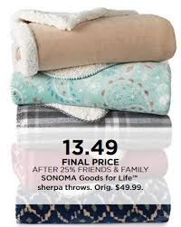 Kohls Throw Blankets Unique Kohl's SONOMA Sherpa Throws Only 3232 Reg 32 MyLitter