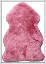 pink sheepskin rug dunelm