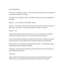 Termination Letter For Employee Of Employment Template Related Post ...