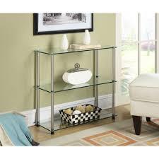 Convenience Concepts Designs2Go No Tools 3-Shelf Glass Bookcase, Multiple  Colors - Walmart.com