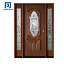 superior hand craft insulated fiberglass 3 4 small oval glass door with 2 full sidelites in china