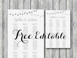 Free Night Light Wedding Chart Printable Wedding In 2019