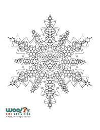 Snowflake Mandala Winter Adult Coloring Page Woo Jr Kids Activities
