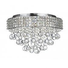 matrix 5lt flush chrome crystal glass ceiling light