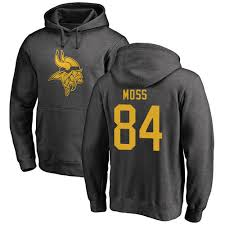 Football Moss Pullover 8880536 One Hoodie 84 Jersey Randy Minnesota Vikings Color - Ash