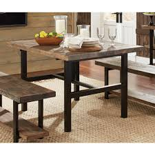 reclaimed wood and metal furniture. Alaterre Furniture Pomona Rustic Natural Dining Table Reclaimed Wood And Metal I