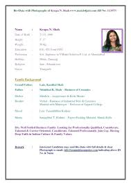 Biodata Resume Resume Blank Template Ideal Marriage Format In Word File