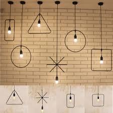 E27 Geometric Hanging Light Industrial Ceiling Pendant Lamp Fixture