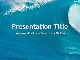 wave powerpoint templates free ocean waves powerpoint template pptmag