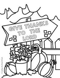Give Thanks To The Lord Thanksgiving Coloring Page Bible
