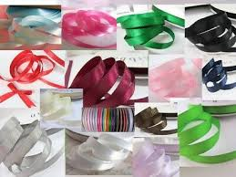 "<b>100 yards</b> Polyester Satin 3/8"" Ribbon/20 Colors/Craft/<b>9mm</b> US ..."