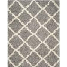 Safavieh Dallas Shag Gray/Ivory Indoor Moroccan Area Rug (Common: 8 x 10