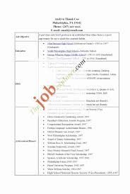 An Example Of A Resume With No Work Experience Best Of Resume