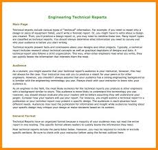 Engineering Technical Report Template Engineering Report Format Template