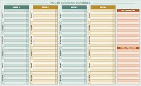 019 Template Ideas Daily Activity Chart House Staggering