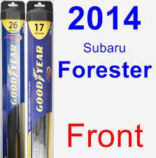 2014 Subaru Forester Wiper Blade Set Kit Front 2 Blades Hybrid