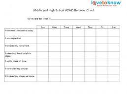 Free Printable Daily Behavior Chart For Teachers Behavior