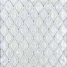a white glass mosaic petal glass tile by jeffrey court