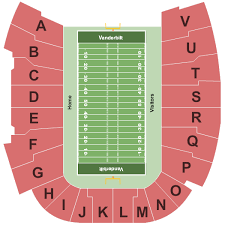 Vanderbilt Football Stadium Virtual Seating Chart Vanderbilt Stadium Seating Chart Nashville
