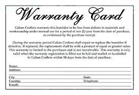 warranty template word warranty card template warranty form template unique certificate