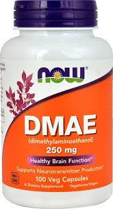 NOW Foods <b>DMAE</b> (Dimethylaminoethanol) <b>250 mg</b> - <b>100</b> Vcaps ...