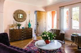 Light Purple Living Room Ideas Purple Velvet Couch Persian Rug Decor Inspiration Bungalow