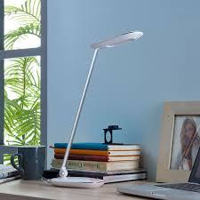 White Led Desk Lamp Verena Usb Port