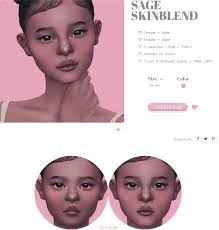 SAGE SKINBLEND | Sims 4, Sims 4 game, Sims 4 cc finds
