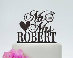 wedding cake toppermr and mrs cake topper with last Wedding Decorations Etsy wedding cake topper,custom cake topper,mr and mrs cake topper with last name etsy rustic wedding decorations
