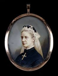 MATILDA BLANCHE GIBBS in old age. One of a pair of miniatures by Antonio  Tomasich Haro (1820-90) at Tyntesfield., Tyntesfield at National Trust