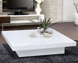 low white coffee table with storage