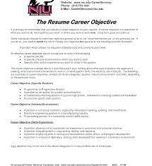 Career Objective Cv Example Of Career Objective Statement Template Examples For