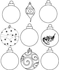Paper Ornaments Printable Christmas Ornament Template Stencils