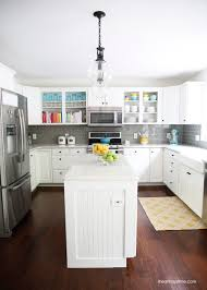 White and grey kitchen makeover - I Heart Nap Time