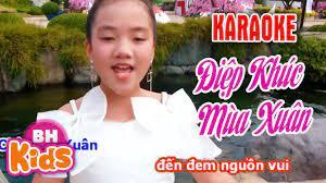 Karaoke Điệp Khúc Mùa Xuân - Nhạc Karaoke Thiếu Nhi - YouTube