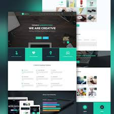 website templates download free designs creative landing page template free psd download download psd