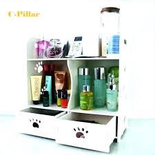 bamboo desktop organizer wooden cosmetics storage box