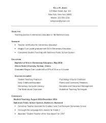 Psychology Resume Objective Fascinating Sample Esl Teacher Resume Teacher Sample Resume Sample Free Teacher
