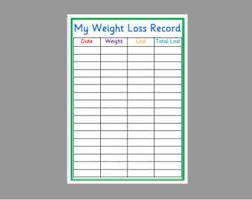 Weight Record Chart Weight Loss Recording Kozen Jasonkellyphoto Co