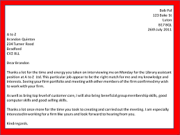 Interview Letters Samples Example Thank You Letter For Interview Cover Letter