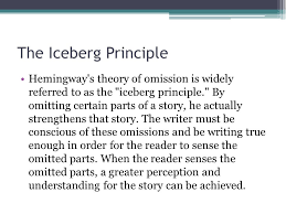 the lost generation an introduction to the movement ppt  the iceberg principle hemingway s theory of omission is widely referred to as the iceberg principle