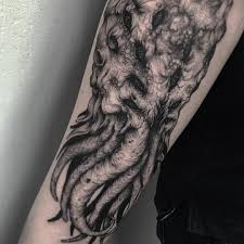 Cthulhu Wpkorvis Dotwork Tattoo Blacktattoo Blackwork