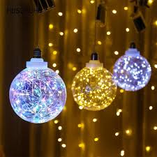 Light Source Christmas Lights Husuyuhu Copper Wire Hanging Ball Transparent Light Bulb
