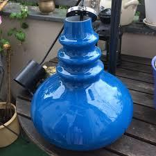 Vintage Lampe Blau 70 Iger Jahre Ddr Retro