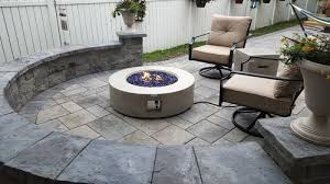 42 round modern concrete gas fire pit table in gray reviews by 4patio com view glenn l