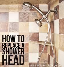 how to replace a shower head at artsysymama com diy bathroom shower
