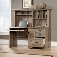 computer desk hutch rustic wood distressed country shelf drawers