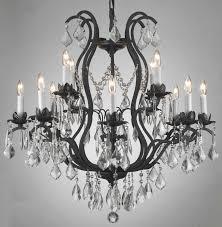 wonderful black glass chandelier plus metal chandelier