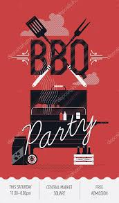 Cookout Flyer Ideas Bbq Barbecue Party Flyer Stock